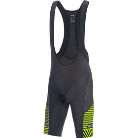 GORE WEAR C3 Bib Shorts Herren black/citrus green